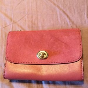 Coach Rouge Leather & Suede Gold Chain Crossbody